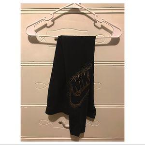 Black and Gold Nike Leggings - size S - worn twice